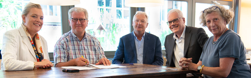 Ondertekening samenwerkingsovereenkomst Hageveld en Zon op Heemstede